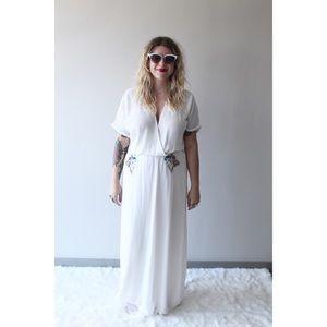 Zara White gauzy dress